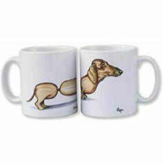 Sausage Dog Dachshund Mug by Bryn Parry