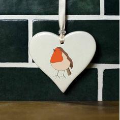 Robin Hanging Heart