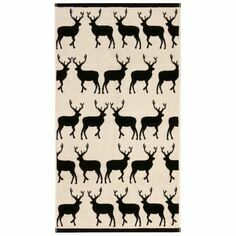 Kissing Stags Hand Towel