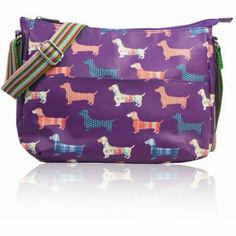 Dachshund Crossbody Bag in Purple