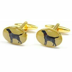 Pair of Black Labrador Design Country Cufflinks
