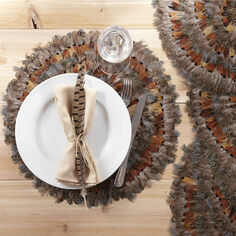 Pheasant Feather Decorative Tablemats (set of 6)