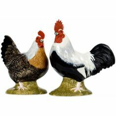 Quail Ceramics Dorking Hen and Cockerel Salt & Pepper Shaker Pots