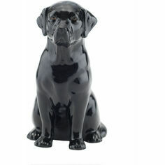 Quail Ceramics Black Labrador Money Box