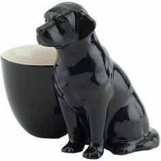 Quail Ceramics Black Labrador with Egg Cup