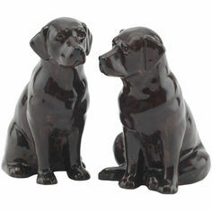 Quail Ceramics Chocolate Labrador Salt & Pepper Shaker Pots