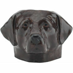 Chocolate Labrador Face Egg Cup