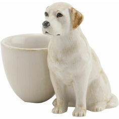 Quail Ceramics Golden Labrador with Egg Cup