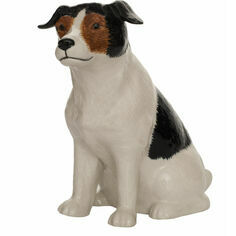 Quail Ceramics Jack Russell Brown/Black/White Money Box