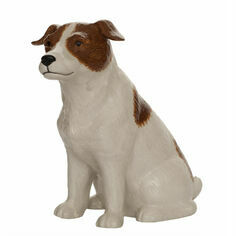 Quail Ceramics Jack Russell Brown/White Money Box