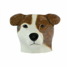 Quail Ceramics Jack Russell Brown/White Face Egg Cup