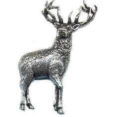 Pewter Lapel Pin in Presentation Box - Stag
