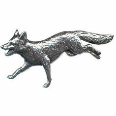 Pewter Lapel Pin in Presentation Box - Running Fox