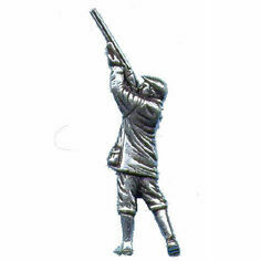 Pewter Lapel Pin in Presentation Box - Shooter