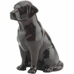 Quail Ceramics Chocolate Labrador Money Box