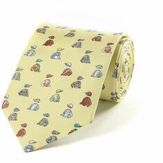 Fox & Chave Bryn Parry Jockey Silks Lemon Tie