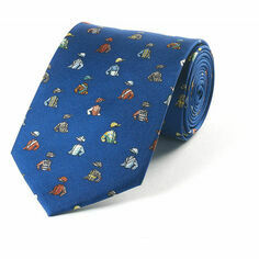 Fox & Chave Bryn Parry Jockey Silks Dark Blue Tie