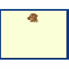 Bryn Parry Sepia Notecards - Black Labrador