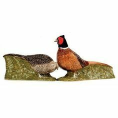 Quail Ceramics Pheasant Design Salt & Pepper Pots