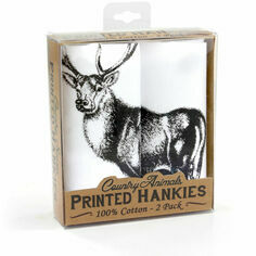 Pack of 2 Stag Handkerchiefs