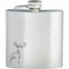 6oz Stainless Steel Stag Hip Flask
