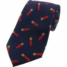 Soprano Navy Blue Cartridges Woven Silk Tie