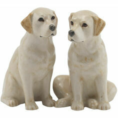 Quail Ceramics Golden Labrador Salt & Pepper Shaker Pots