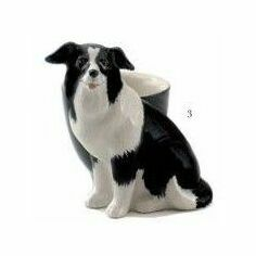 Quail Ceramics Border Collie Design Egg Cup