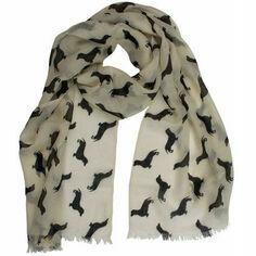 The Labrador Company Dachshund Cashmere & Wool Scarf