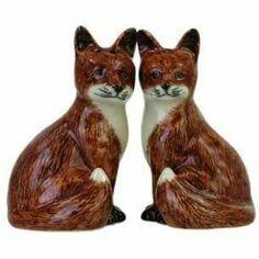 Quail Ceramics Fox Salt & Pepper Shaker Pots