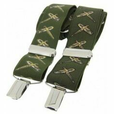 Green Flying Pheasant Classic 35mm Country Braces