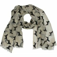 The Labrador Company Spaniel Cashmere/wool Scarf