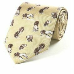Fox & Chave Bryn Parry Working Springer Spaniel Tie