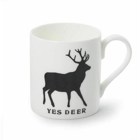 Yes Deer No Deer Bone China Mug