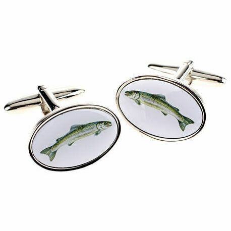 Salmon design cufflinks