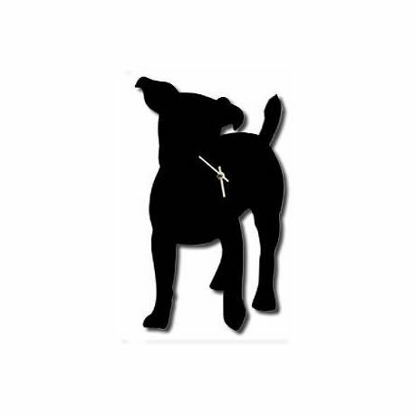 The Labrador Company Jack Russell Dog Wall Clock With Wagging Tail