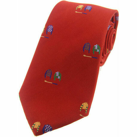 Soprano Woven Silk Jockey Silks Tie - Red