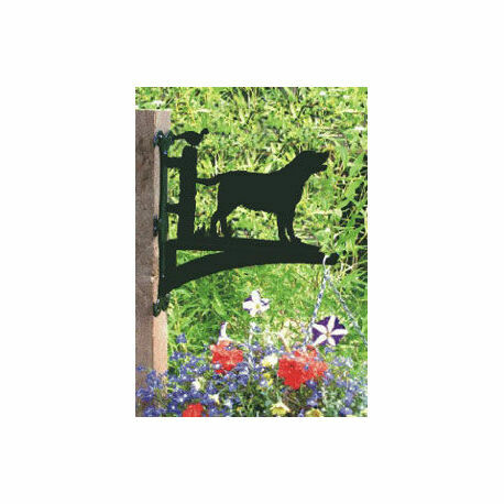 hanging basket bracket in labrador design