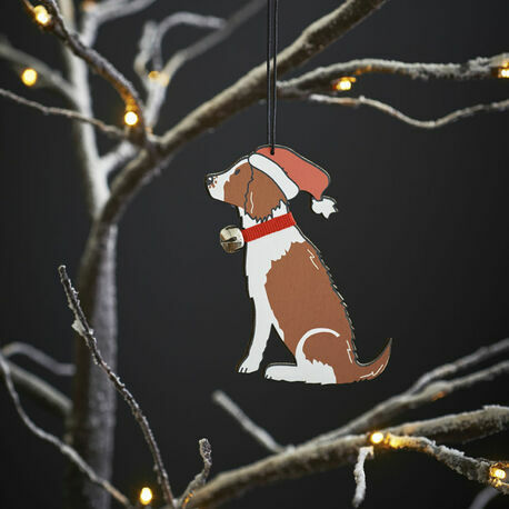Sweet William Liver and White Springer Spaniel Christmas Decoration