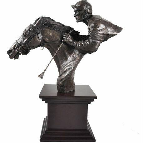 By A Neck Cold Cast Bronze Sculpture