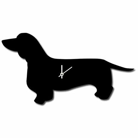 The Labrador Company Dachshund Wagging Tail Wall Clock