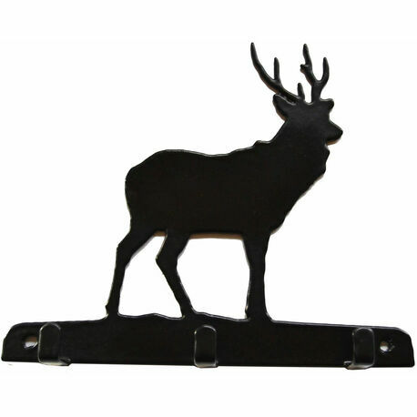 3 Hook Key Rack - Stag