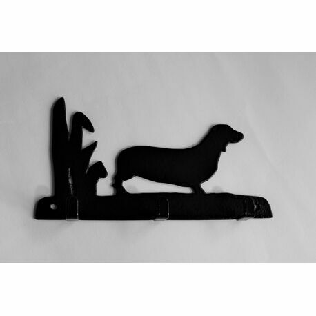 3 Hook Key Rack - Dachshund