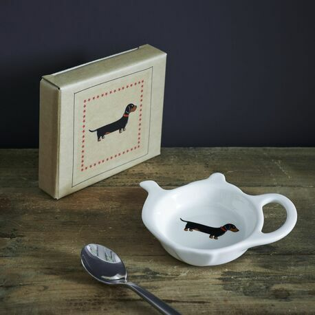 Sweet William Dachshund Teabag Holder Dish