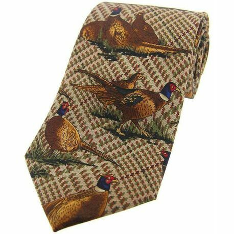 Brown Pheasant Silk Country Tie