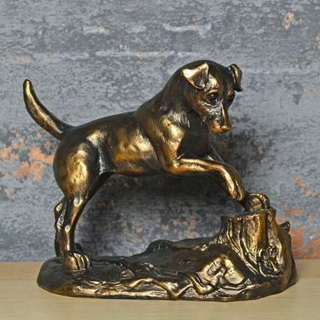 Harriet Glen Cold Cast Bronze Jack Russell Sculpture