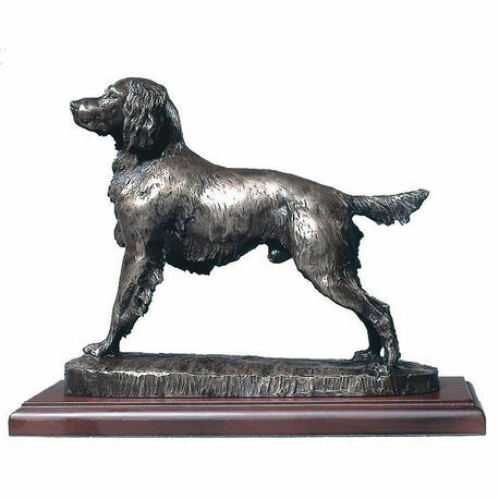 David Geenty Springer Spaniel Cold Cast Bronze Sculpture