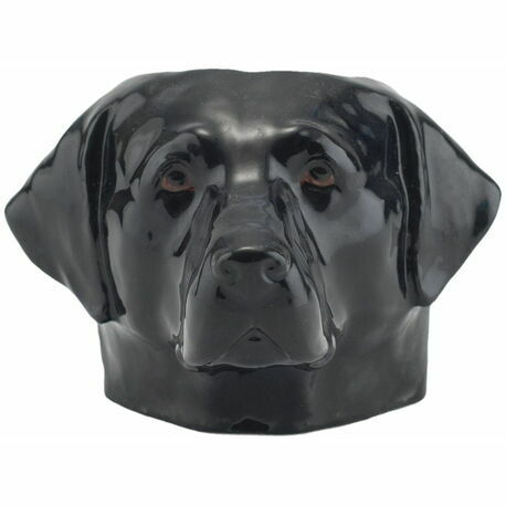 Quail Ceramics Black Labrador Face Egg Cup