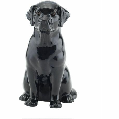 Quail Ceramics Black Labrador Money Box
