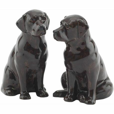 Chocolate Labrador Salt & Pepper Pots